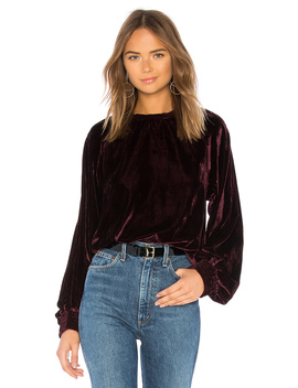 Velvet Pullover Sweatshirt by 7 For All Mankind