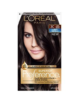 L'oréal Paris Superior Preference Fade Defying + Shine Permanent Hair Color, 3 C Cool Darkest Brown (1 Kit) Hair Dye by L'oreal Paris