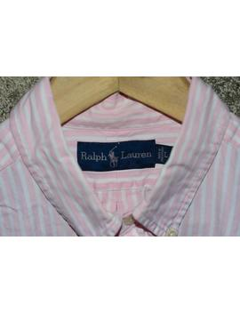 Ralph Lauren Polo Sport Button Up Shirt Striped Oxford Vintage 90s 92 Vntg Large by Etsy