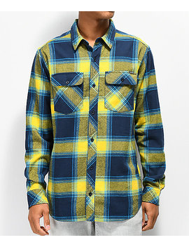 Empyre Marky Blue & Yellow Flannel Shirt by Empyre