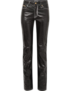 Cypress Coated High Rise Slim Leg Jeans by Eytys