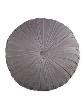 Velvet Tufted Round Throw Pillow by Bed Bath And Beyond