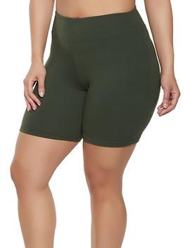 Plus Size Soft Knit Bike Shorts | 1931072291111 by Rainbow