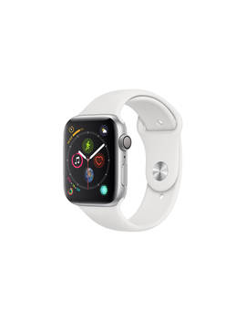 Apple Watch Series 4, Gps, 44mm Silver Aluminium Case With Sport Band, White by Apple