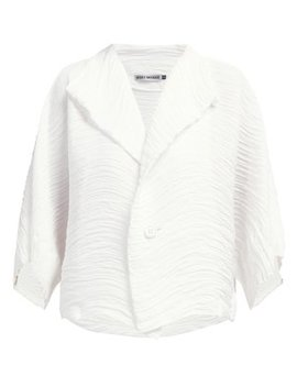 Buttoned Pleated Jacket by Issey Miyake