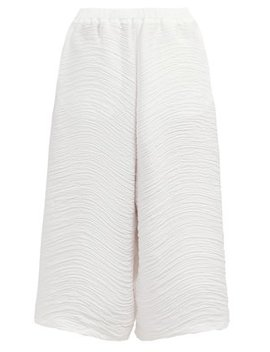 Wide Leg Pleated Trousers by Issey Miyake