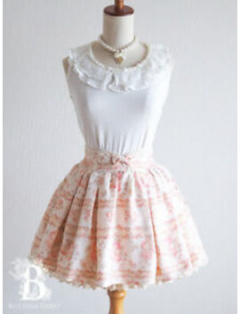 🌹Liz Lisa🌹Princess Pink Beige Skirt Floral Bow Larme Hime Lolita Japan M E176 by Liz Lisa
