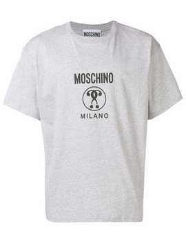 Double Question Mark Logo T Shirt by Moschino