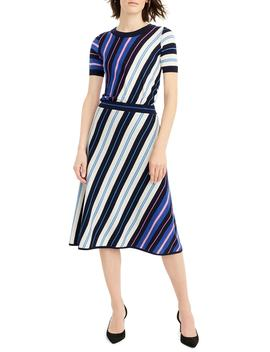 Diagonal Stripe Merino Wool A Line Skirt by J.Crew