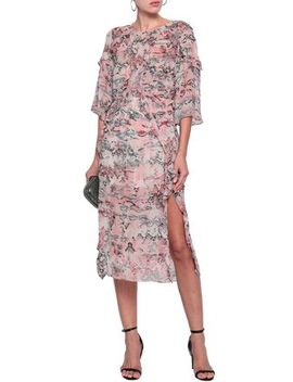 Ruffled Printed Georgette Midi Dress by Iro