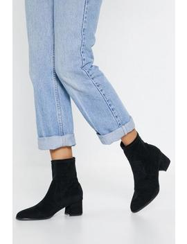 Faux Suede Sock Boots by Nasty Gal