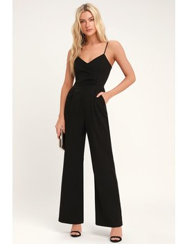 Tierney Black Pleated Jumpsuit by Adelyn Rae