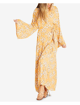 Juniors' Bell Sleeve Wrap Dress by Billabong