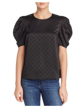 Coco Puff Sleeve Polka Dot Top by Lucy Paris