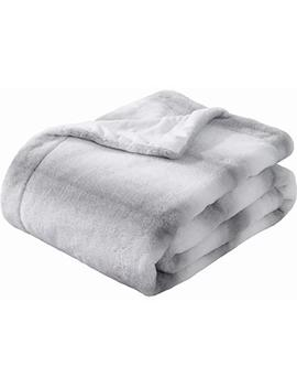 sedona-house-faux-fur-throw-blanket---super-soft-fuzzy-faux-fur-cozy-warm-fluffy-beautiful-plush-microfiber-throw-blanket,-grey-stripe by sedona-house
