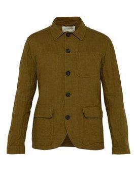 Lenen Single Breasted Linen Jacket by Oliver Spencer