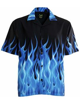 Benny 's Blau Flammen Bowling Shirt by Benny's