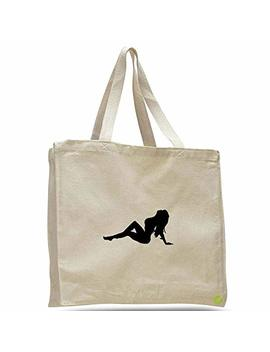 classic-sexy-mudflap-girl-canvas-tote-bag-cotton-messenger-b11852-(natural) by stickerslug