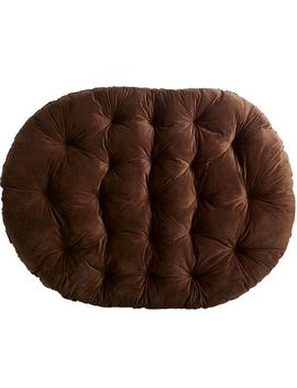 Plush Chocolate Brown Double Cushion by Papasan Collection