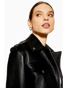 **Ultimate Leather Biker Jacket By Boutique by Topshop