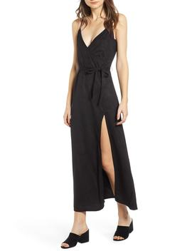 Night Bloom Faux Suede Maxi Dress by Lira Clothing