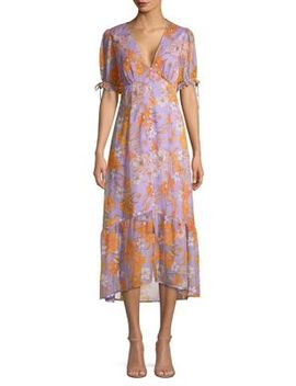 Chandler Printed Ruffle Dress by Astr The Label