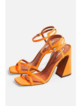 Redemption Orange Sandals by Topshop