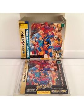 X Men Vs Street Fighter Ntsc Japan Sega Saturn Boxed by Ebay Seller
