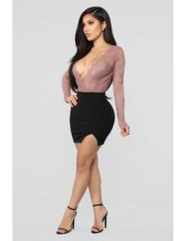 Risque Ponte Mini Skirt   Black by Fashion Nova
