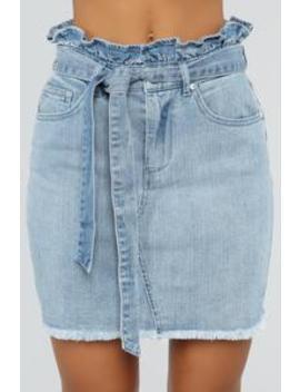 Flipped The Switch Skirt   Medium Wash by Fashion Nova