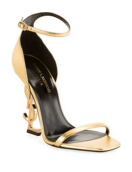 Opyum Ysl Logo Heel Sandals by Saint Laurent