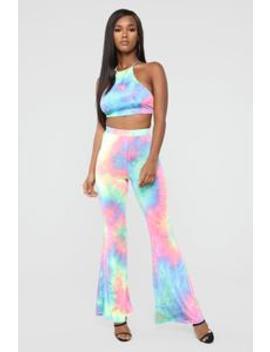 Dream Scene Tie Dye Pant Set   Multi by Fashion Nova