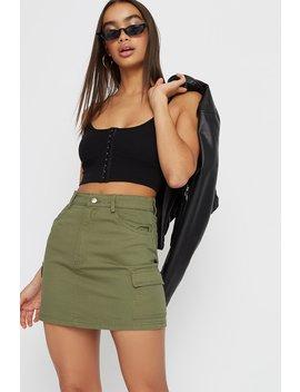 Twill Cargo Mini Skirt by Urban Planet