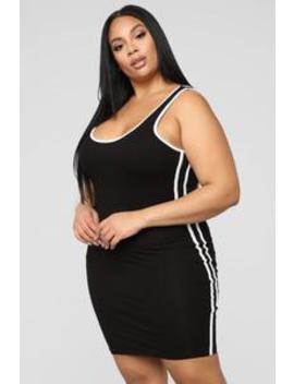 Can't Catch Me Dress   Black by Fashion Nova