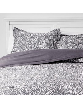 Paisley Ogee Comforter Set Gray   Threshold™ by Threshold