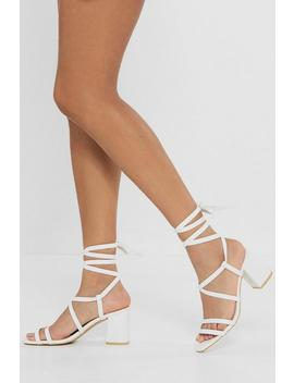 Give Me A Minute Wrap Sandals by Nasty Gal