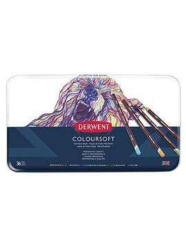 Derwent Coloured Pencils, Coloursoft Pencils, Drawing, Art, Metal Tin, 36 Count (0701028) by Derwent