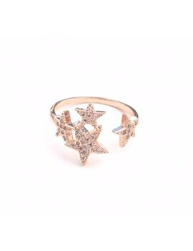 Magic Hour Ring // Star Cluster Pave Adjustable Ring // Gold, Silver, Rose Gold // Au Courant X Sam Ozkural Jewelry by Etsy