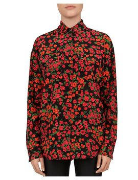 Camellia Print Silk Blouse by The Kooples