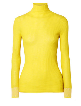 Ribbed Wool Turtleneck Sweater by Victoria, Victoria Beckham
