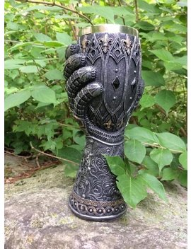 """<Span Data Inner Title="""""""">Game Of Thrones House Lannister Valentine's Gift For Him Jaime's Gauntlet Goblet With House Lion Kingslayer</Span> by Etsy"""