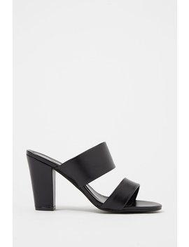 Double Banded Heel Mule by Urban Planet
