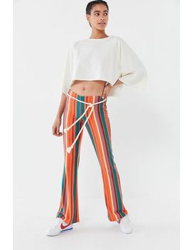 Uo Bali Striped Low Rise Flare Pant by Urban Outfitters