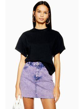 Purple Acid Wash Mini Skirt by Topshop