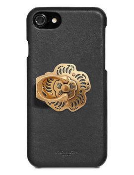 Tea Rose Phone Grip by Coach