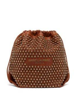 Studded Leather Bucket Bag by Saint Laurent