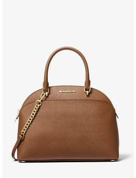 Emmy Large Saffiano Leather Dome Satchel by Michael Michael Kors