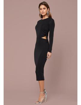 Sienna Shirred Midi Dress by Bebe