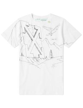 Off White Pencil Eagle Diagonals Skinny Tee by Off White