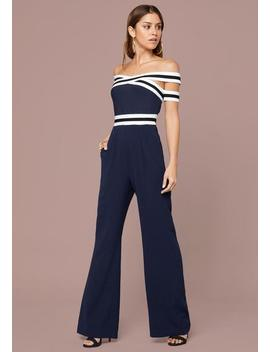 Bandage & Woven Jumpsuit by Bebe